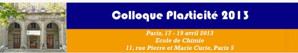 Plasticité 2013 à Paris